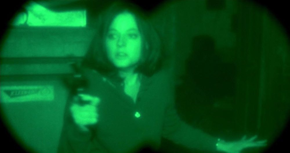 Screenshot of Jody Foster as Clarice Stirling in The Silence of the Lambs.