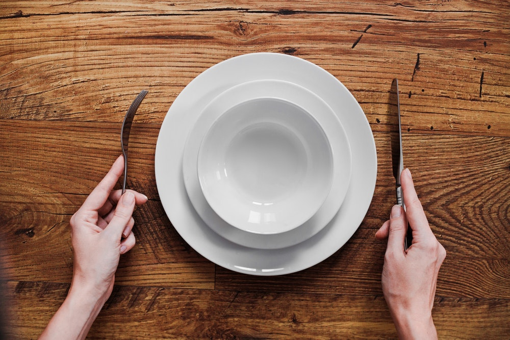 Image of an empty plate