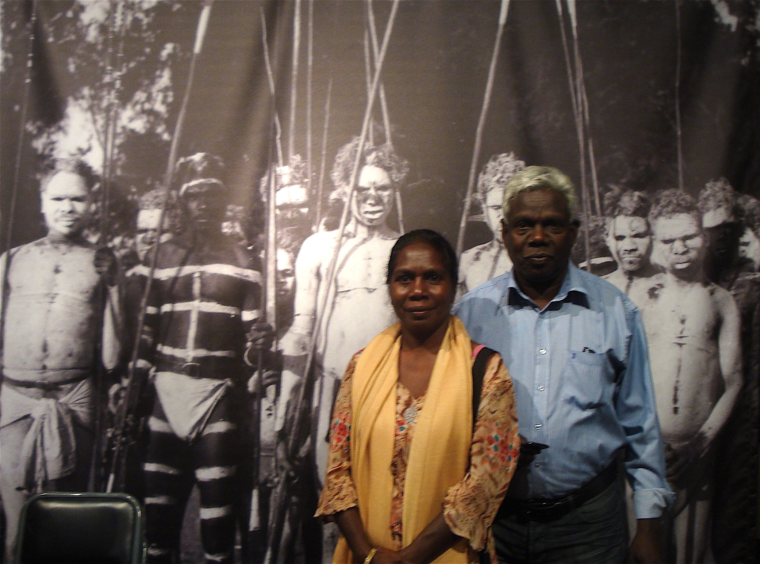 Picture of Gumbula with his wife, Pamela Ganambarr