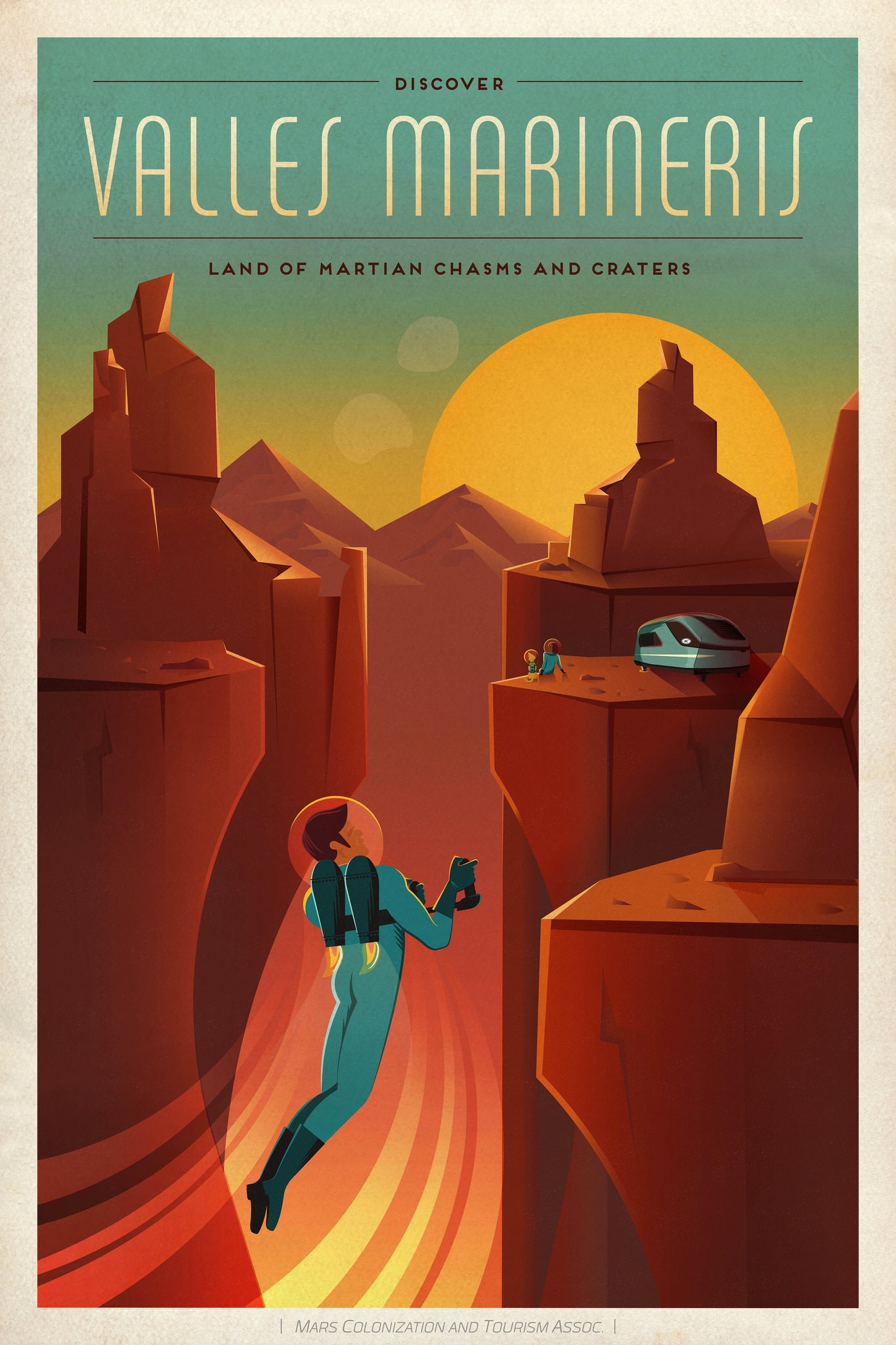 Colonize Mars poster from SpaceX