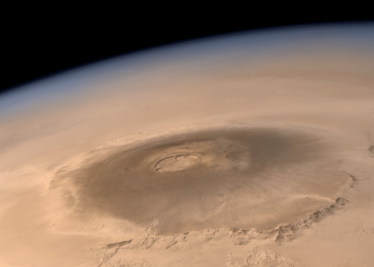 Photograph of Olympus Mons.