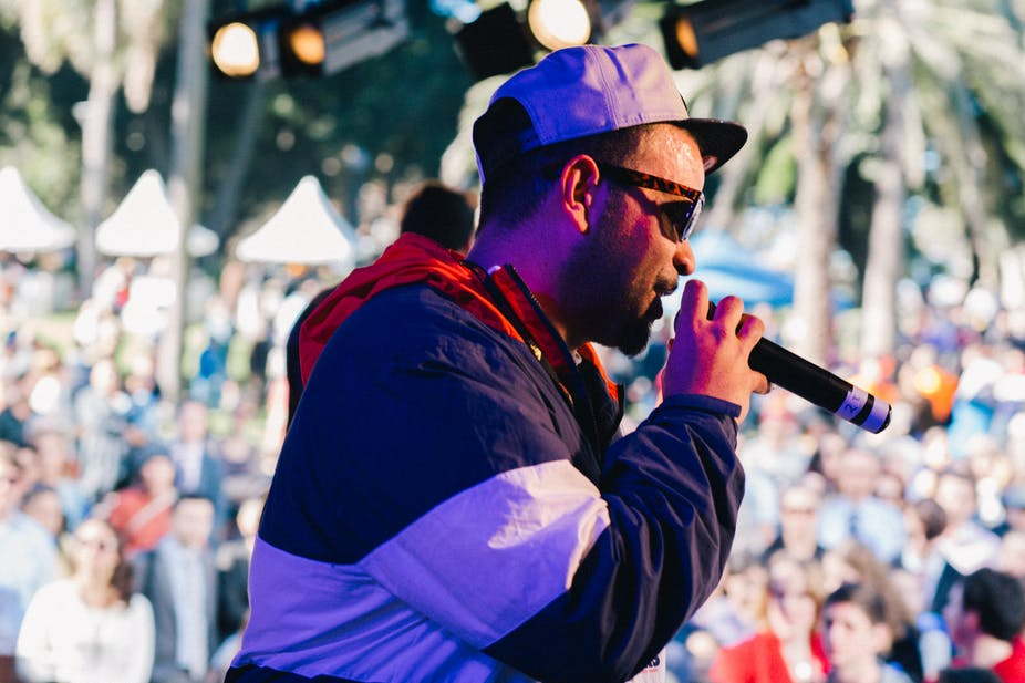 Jimblah isn't the only Indigenous rapper delivering witty and nuanced social messages. AAP/ NUZULU/ Averie Harvey